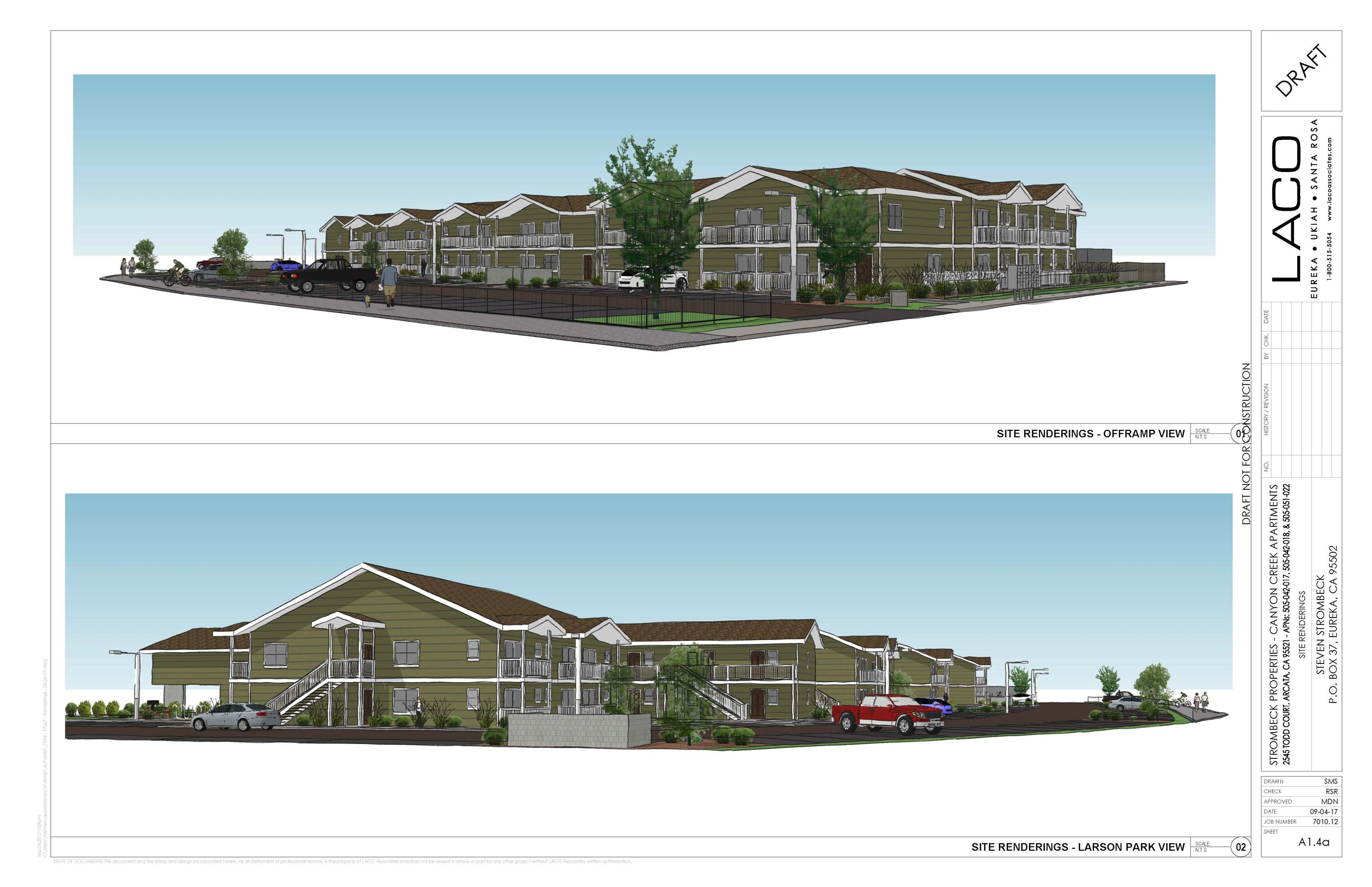 Proposed Site Renderings of Canyon Creek Apartments